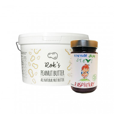 Peanut butter smooth 2kg & raspberry jam 300ml