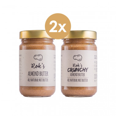 Almond butter smooth & Almond butter crunchy