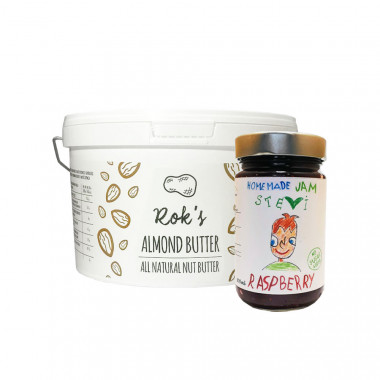 Almond butter smooth 2kg & raspberry jam 300ml