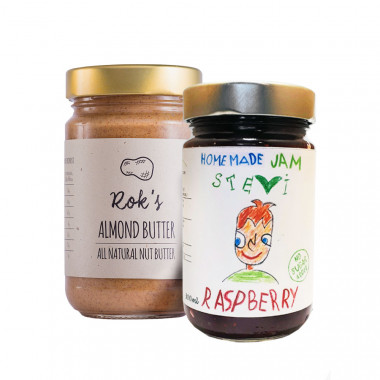 Almond butter smooth 300g & raspberry jam 300ml