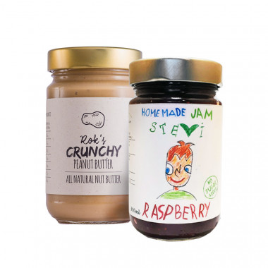 Peanut butter crunchy 300g & Raspberry jam 300ml