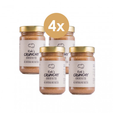 Almond butter four pack crunchy