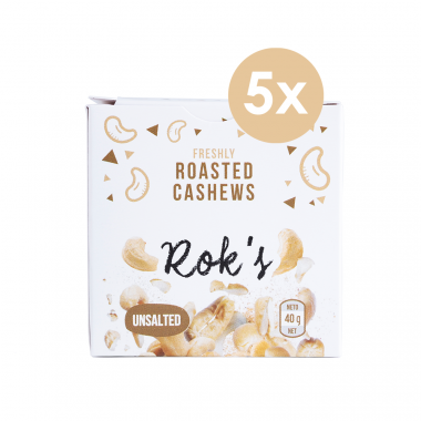 Rok's Roasted Cashews to go 5 x 40 g