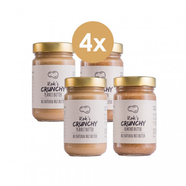 Peanut butter two pack crunchy & Almond butter two pack crunchy