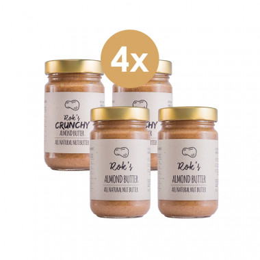 Almond butter two pack smooth & two pack crunchy